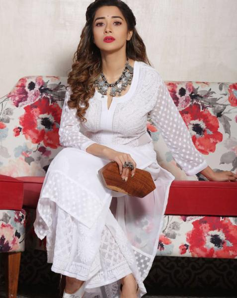 Tina Datta looked every bit gorgeous in a white salwar suit
