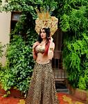 Adah Sharma Flaunts Her Perfect Curves in Golden Lehenga    Actor Adah Sharma flaunts her perfect abs in backless golden and blue lehenga andEgyptian...