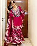 Hina Khan looks gorgeous in a deep pink sharara set by Gopi Vaid    Be it in the Bigg Boss 14 House or in real life, actor Hina Khan's style game...