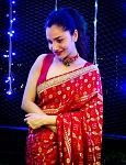 Ankita Lokhande looks bright and beautiful in a red saree    Karwa Chauth was celebrated on November 4 with a lot of fun and fervous across India....