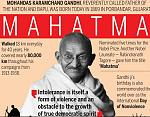 Mohandas Karamchand Gandhi (/ˈɡɑːndi, ˈɡændi/ 2 October 1869 – 30 January 1948) was an Indian lawyer, anti-colonial nationalist, and political...