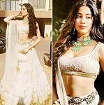 Janhvi Kapoor's golden lehenga by Manish Malhotra    As we said, Janhvi loves to wear some sparkles and shine and this golden lehenga is exactly up...