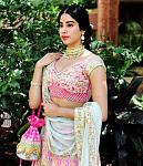 Janhvi Kapoor's Manish Malhotra lehenga at Sonam Kapoor's wedding    Janhvi Kapoor wore a colourful-pastel Manish Malhotra lehenga at the wedding of...