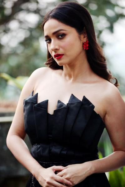 Ankita Lokhande looked stunning in a black off-shoulder dress