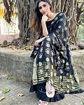 Mouni Roy looked elegant in a black cotton silk sharara    Actor Mouni Roy is breathtaking. After ruling the Television industry for many years,...