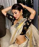 Mouni Roy celebrates Diwali    Actor Mouni Roy dressed up for Diwali festivities in a silk saree and posted pictures on Instagram. She looked...