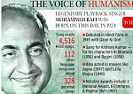 Mohammed Rafi (24 December 1924 – 31 July 1980) was an Indian film playback singer. He is considered as one of the greatest and most influential...